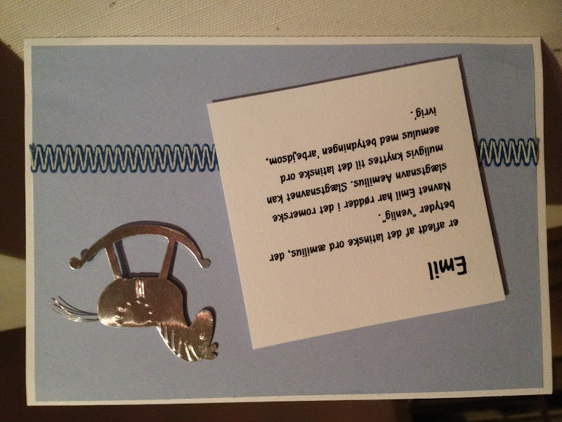 tekst i dåbskort